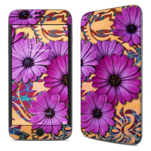 Purple Daisy Damask iPhone 6s Plus Skin