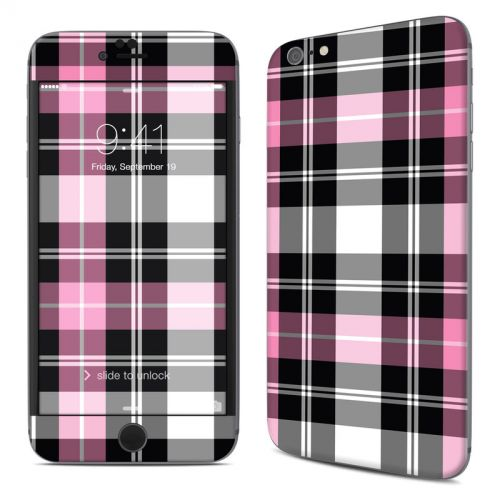 Pink Plaid iPhone 6s Plus Skin