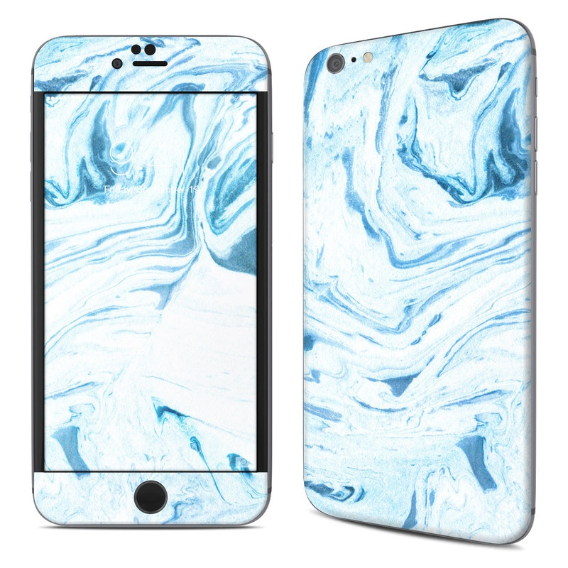 iPhone 6s Plus Skin design of Water, Aqua, Wind wave, Drawing, Painting, Wave, Pattern, Art with blue colors