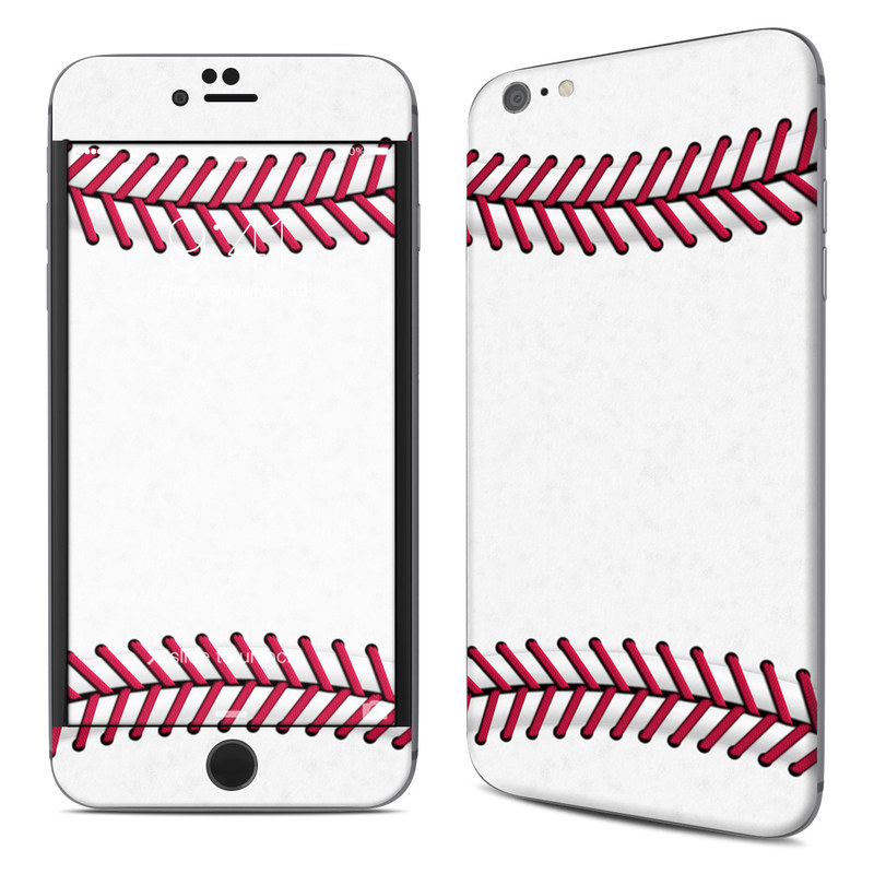 iPhone 6s Plus Skin design of Red, Line, Pink, Parallel, Paper with white, red colors