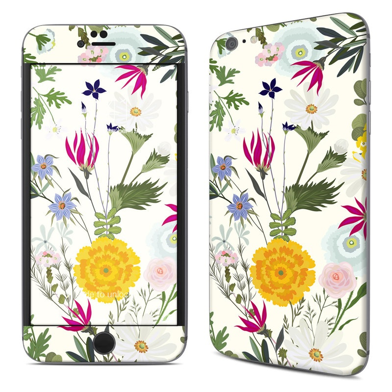 iPhone 6s Plus Skin design of Flower, Wildflower, chamomile, Floral design, Plant, camomile, Botany, Clip art, Cut flowers, Daisy with white, green, pink, orange, yellow, red colors