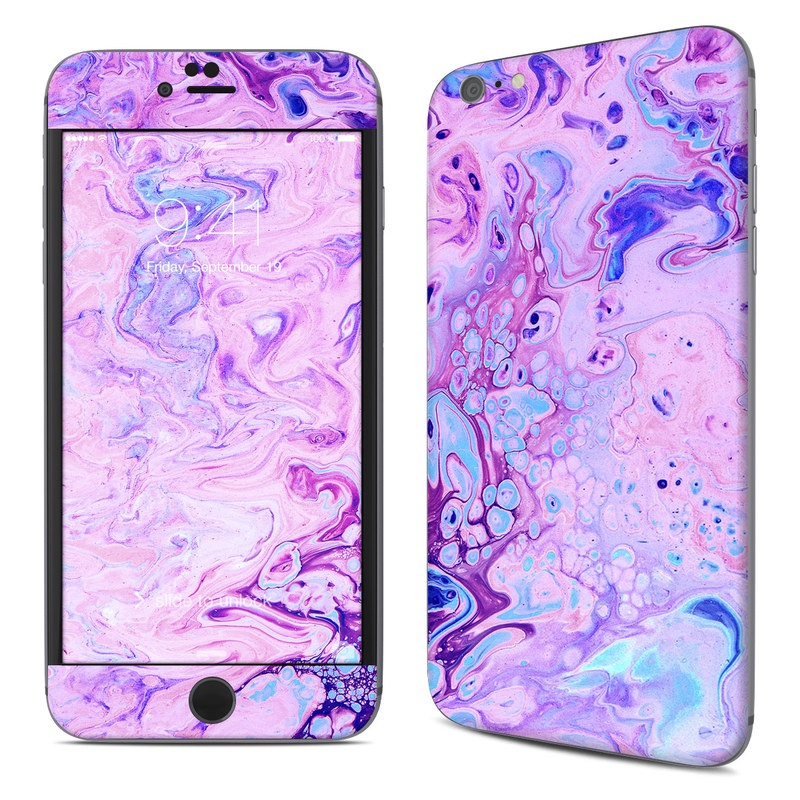 iPhone 6s Plus Skin design of Purple, Violet, Lilac, Art, Pattern, Modern art, Painting, Visual arts, Acrylic paint, Magenta with pink, purple, blue colors