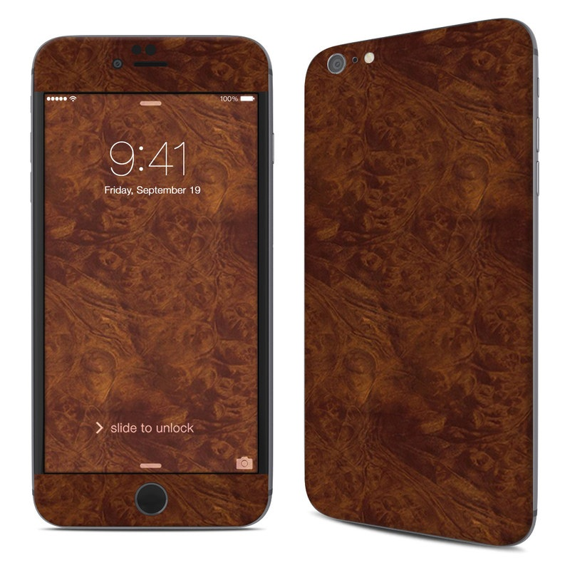 Dark Burlwood iPhone 6s Plus Skin