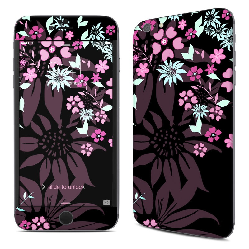 Dark Flowers iPhone 6s Plus Skin