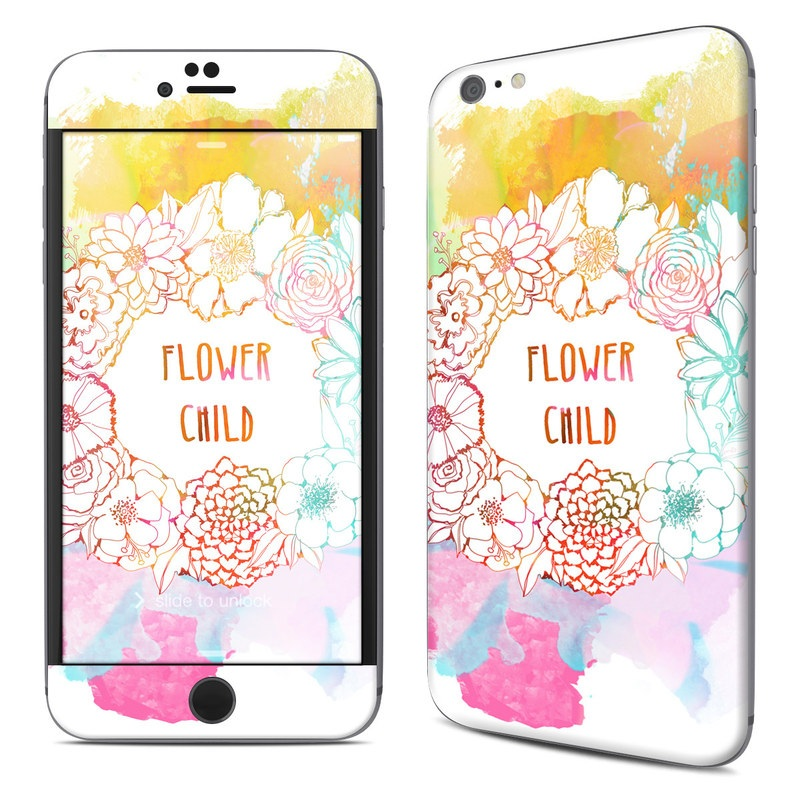 iPhone 6s Plus Skin design of Heart, Illustration, Clip art with yellow, orange, pink, blue, red colors