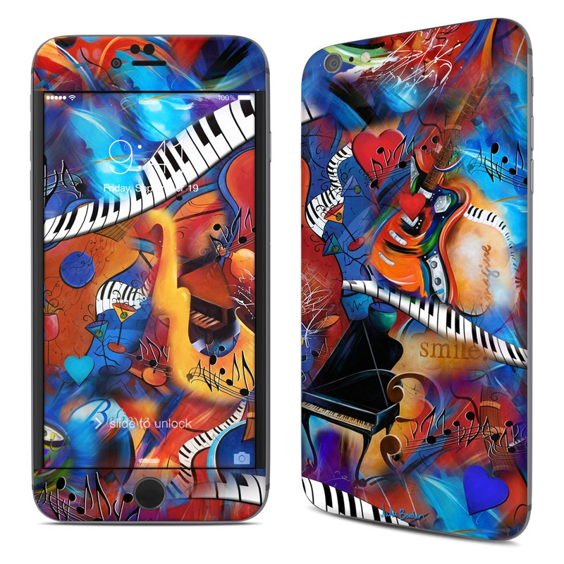 iPhone 6s Plus Skin design of Art, Graffiti, Mural, Modern art, Street art, Psychedelic art, Fictional character, Graphic design, Visual arts, Animated cartoon with black, red, blue, gray, green colors