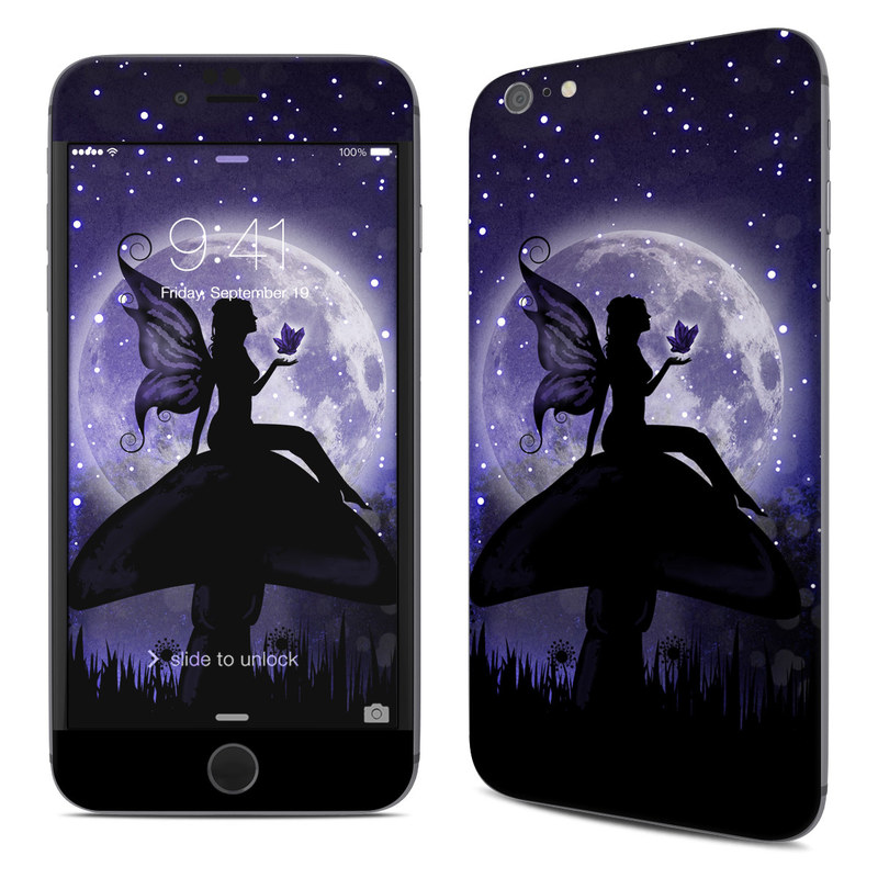 iPhone 6s Plus Skin design of Purple, Sky, Moonlight, Cg artwork, Fictional character, Darkness, Night, Illustration, Space, Star with black, blue, gray, purple colors