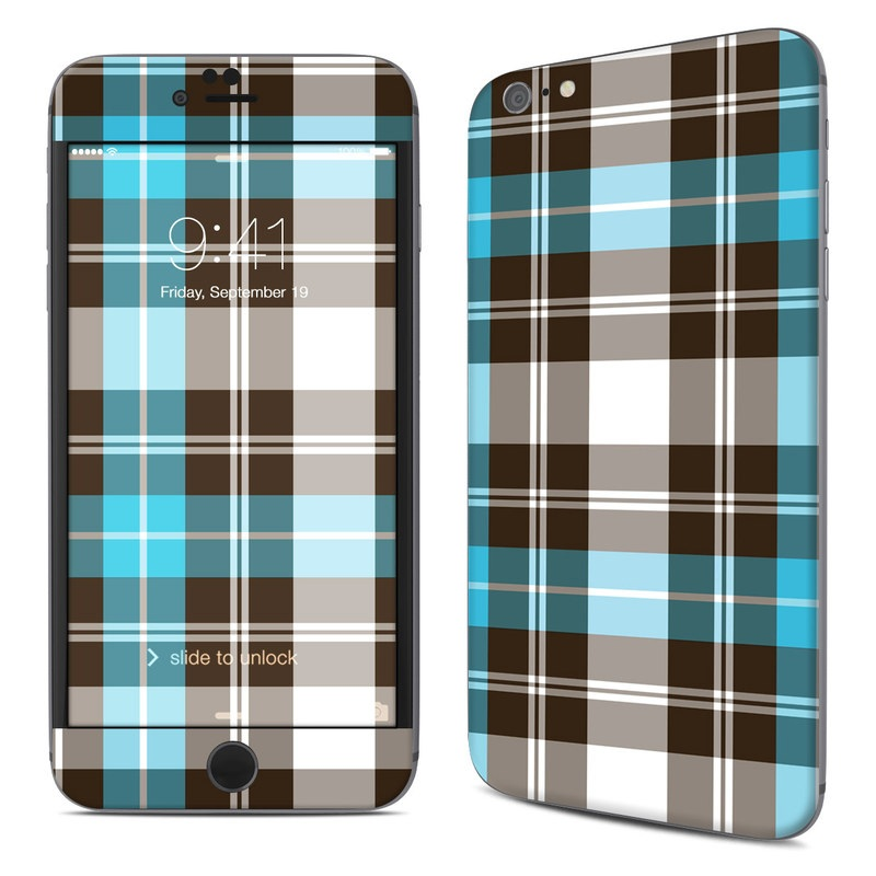 Turquoise Plaid iPhone 6s Plus Skin