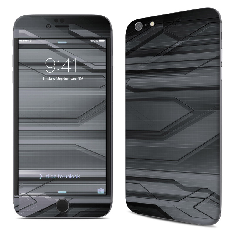 iPhone 6s Plus Skin design of Black, Monochrome, Line, Architecture, Black-and-white, Design, Pattern, Sky, Automotive design, Ceiling with black, gray colors
