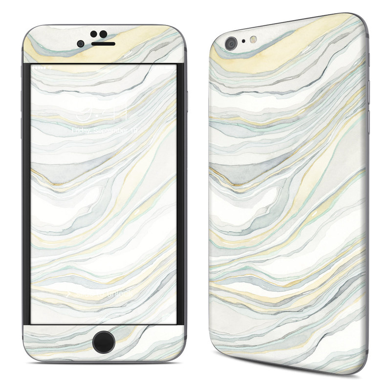 iPhone 6s Plus Skin design of Line, Pattern with yellow, white, blue, gray colors