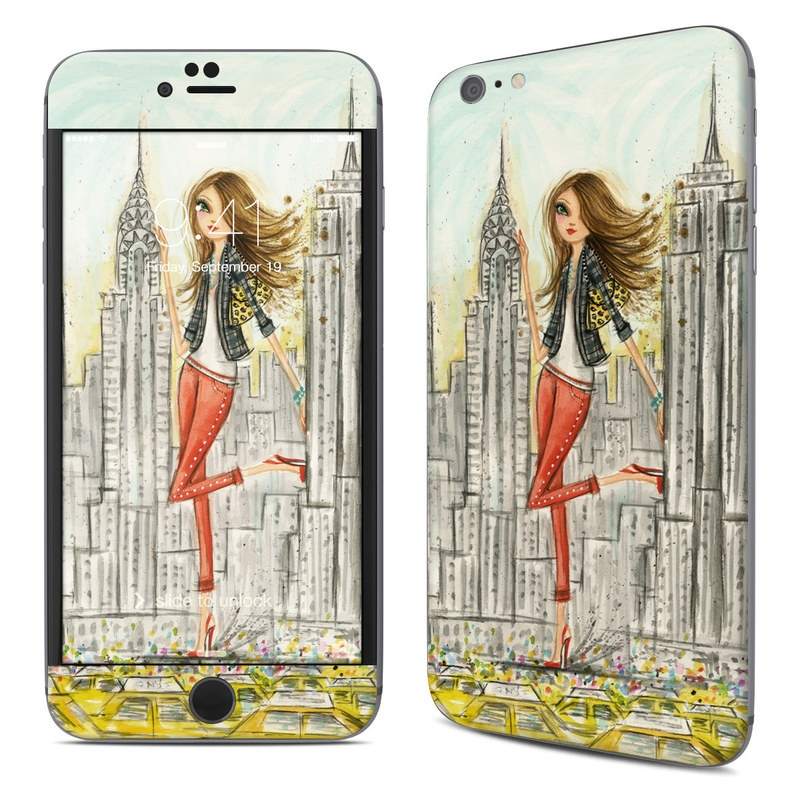 iPhone 6s Plus Skin design of Human settlement, Fashion illustration, Illustration, City, Art, Architecture, Drawing, Fictional character with gray, green, black, red colors