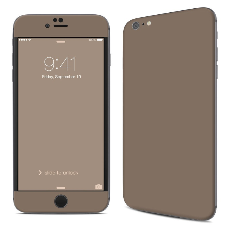 Solid State Flat Dark Earth iPhone 6s Plus Skin