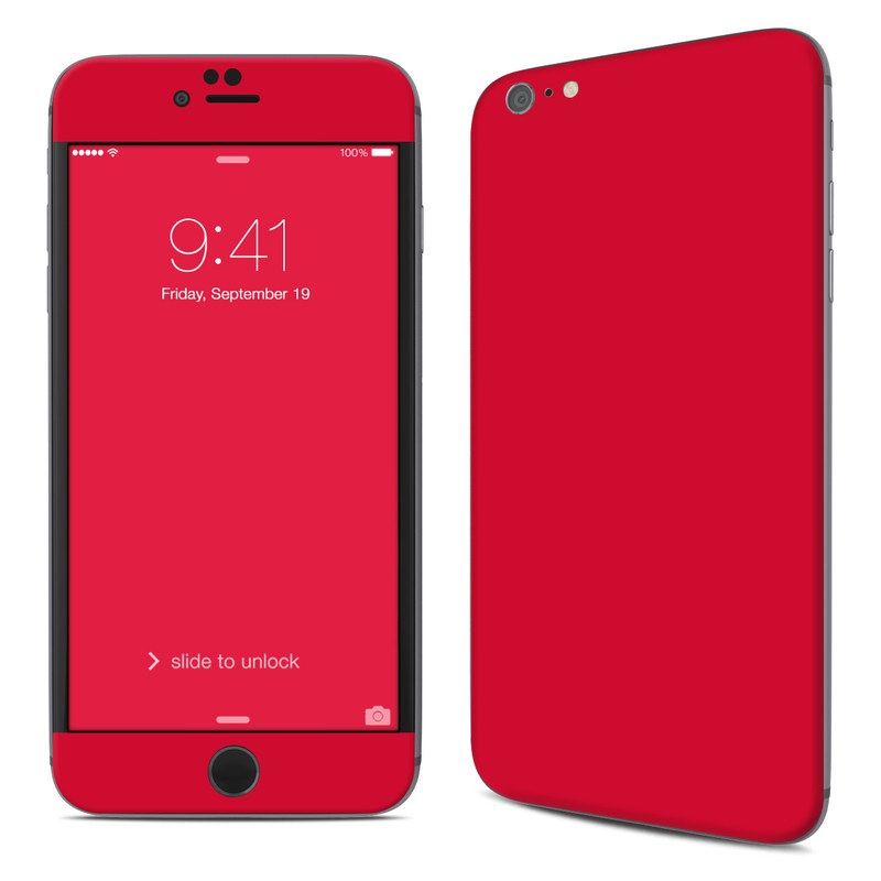 Solid State Red iPhone 6s Plus Skin