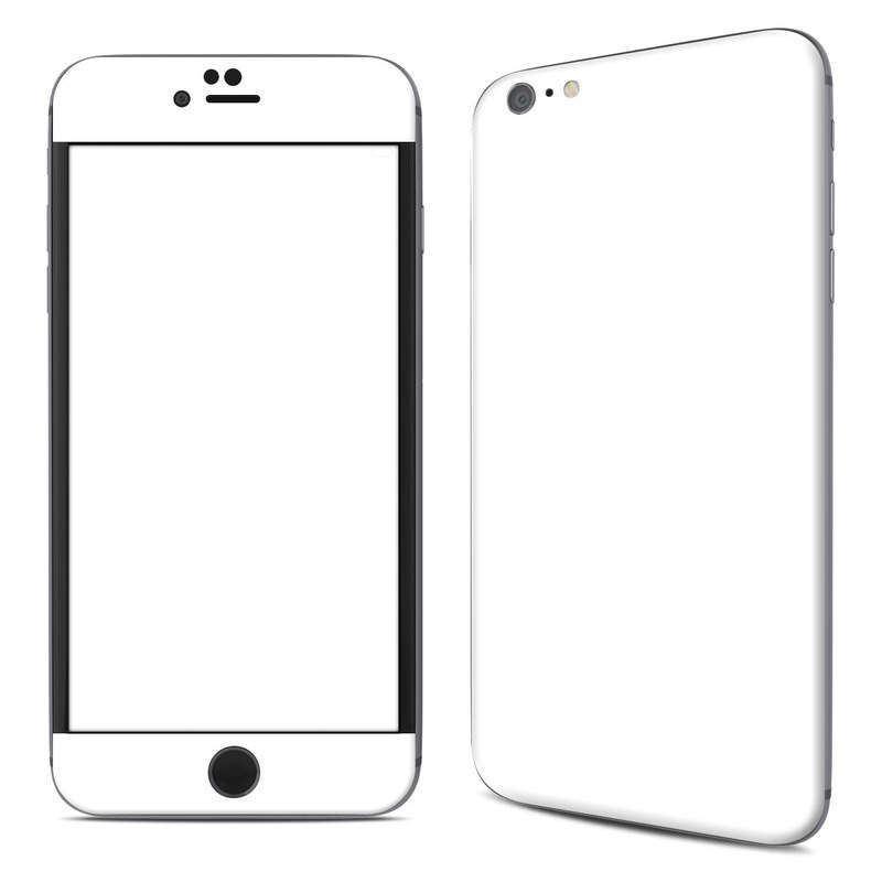 iPhone 6s Plus Skin design of White, Black, Line with white colors