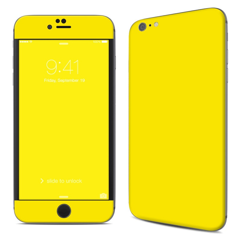 Solid State Yellow iPhone 6s Plus Skin