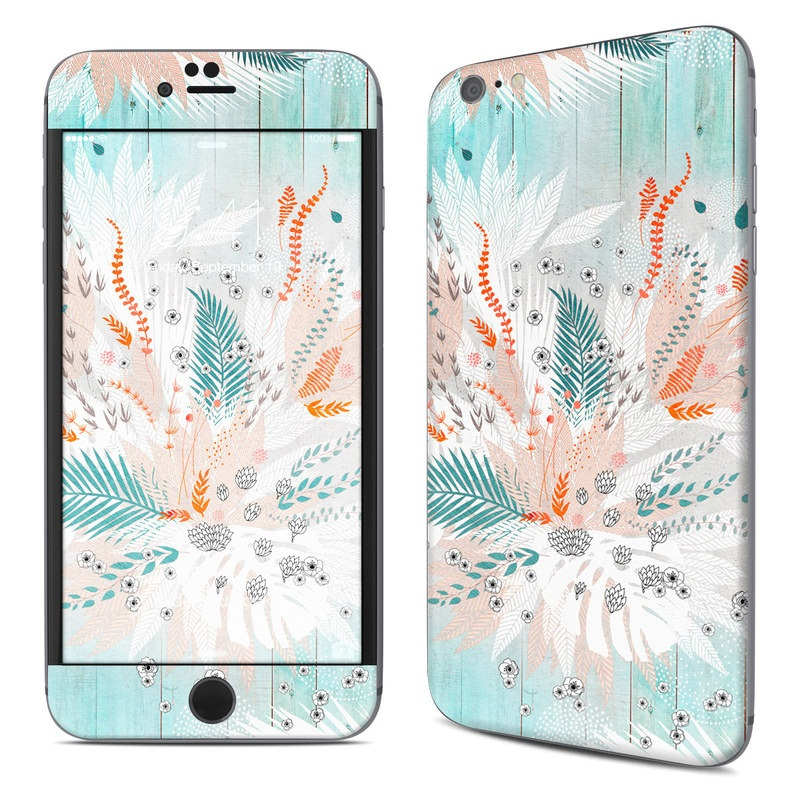 iPhone 6s Plus Skin design of Aqua, Turquoise, Graphic design, Line, Teal, Illustration, Watercolor paint, Design, Tree, Pattern with blue, red, orange, white, gray colors