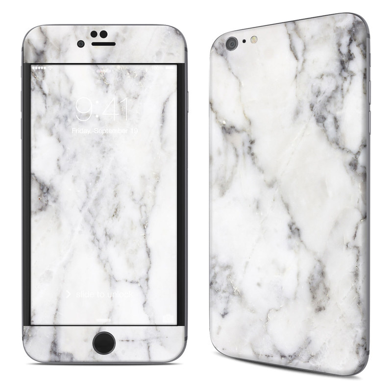 White Marble iPhone 6s Plus Skin