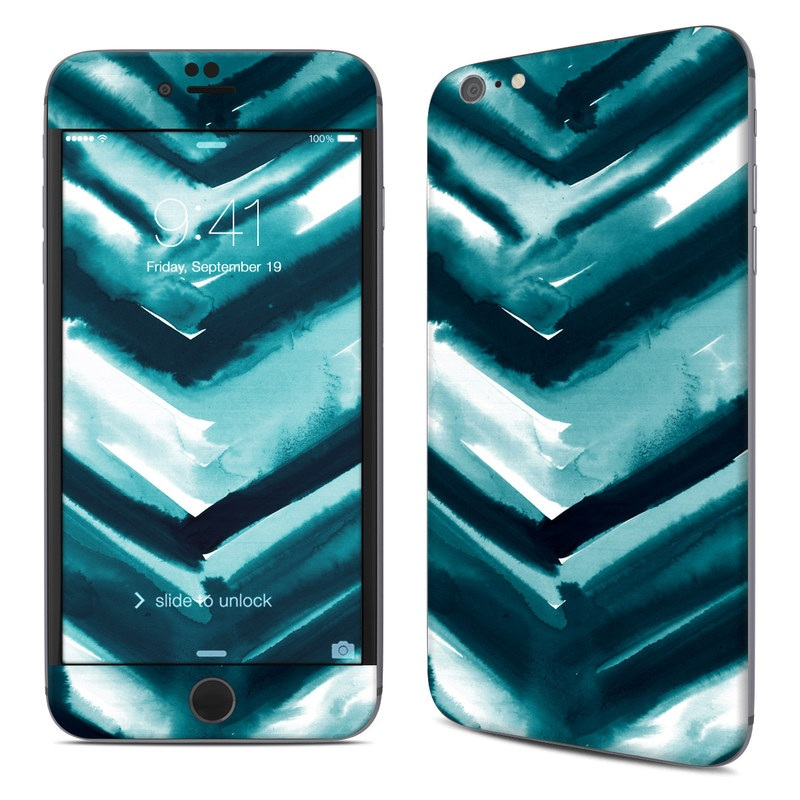 iPhone 6s Plus Skin design of Blue, Green, Turquoise, Aqua, Teal, Photography, Pattern with blue, white, black colors