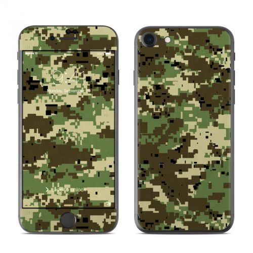 Digital Woodland Camo iPhone 7 Skin