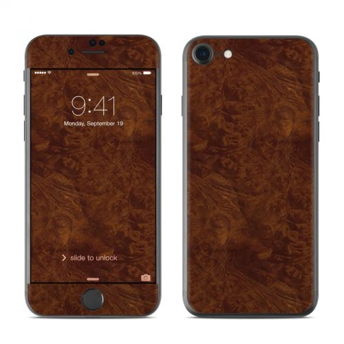 Dark Burlwood iPhone 7 Skin