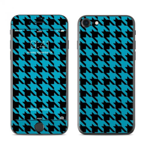 Teal Houndstooth iPhone 7 Skin
