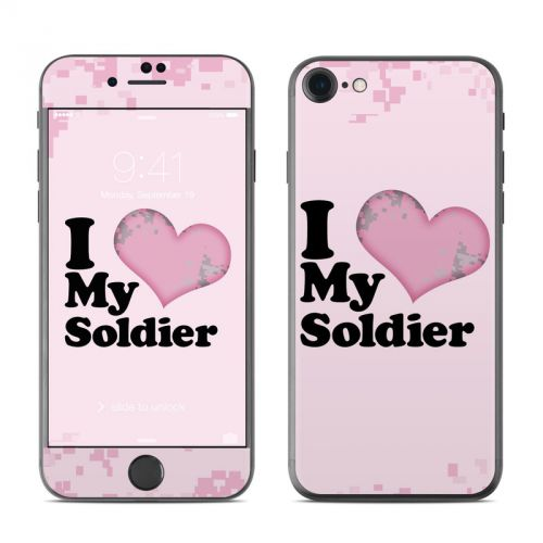 I Love My Soldier iPhone 7 Skin