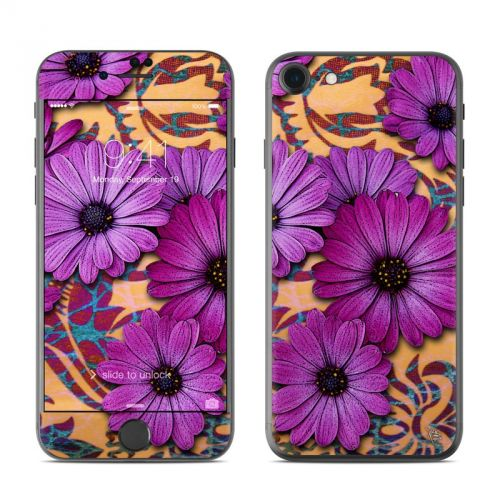 Purple Daisy Damask iPhone 7 Skin