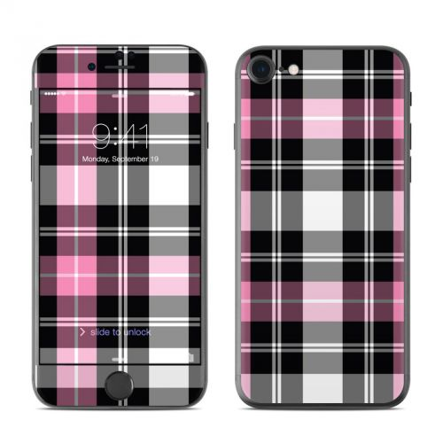 Pink Plaid iPhone 7 Skin