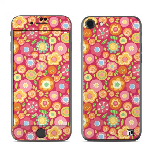 Flowers Squished iPhone 7 Skin