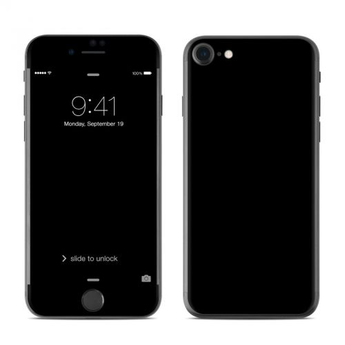 Solid State Black iPhone 7 Skin