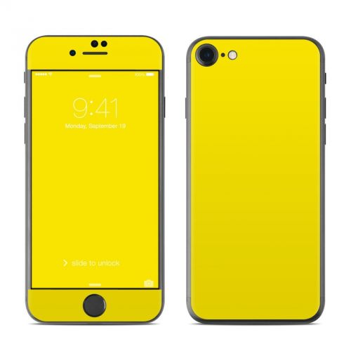 Solid State Yellow iPhone 7 Skin