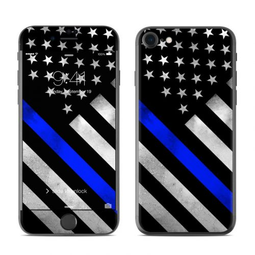 Thin Blue Line Hero iPhone 7 Skin