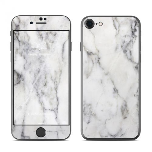 White Marble iPhone 7 Skin