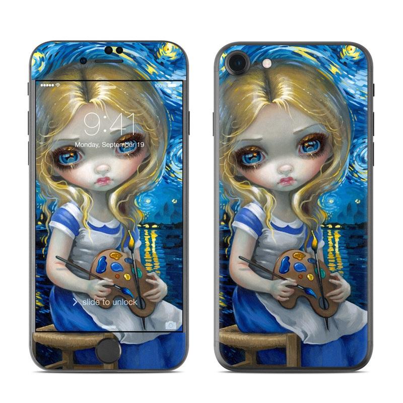 Alice in a Van Gogh iPhone 7 Skin