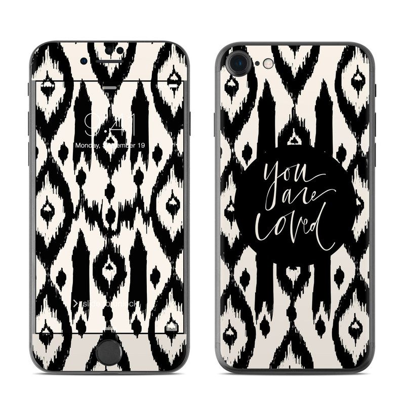 iPhone 7 Skin design of Font, Pattern, Black-and-white, Text, Design, Monochrome, Monochrome photography, Calligraphy, Visual arts, Illustration with black, white colors