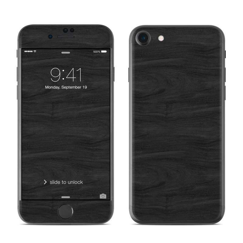 Black Woodgrain iPhone 7 Skin