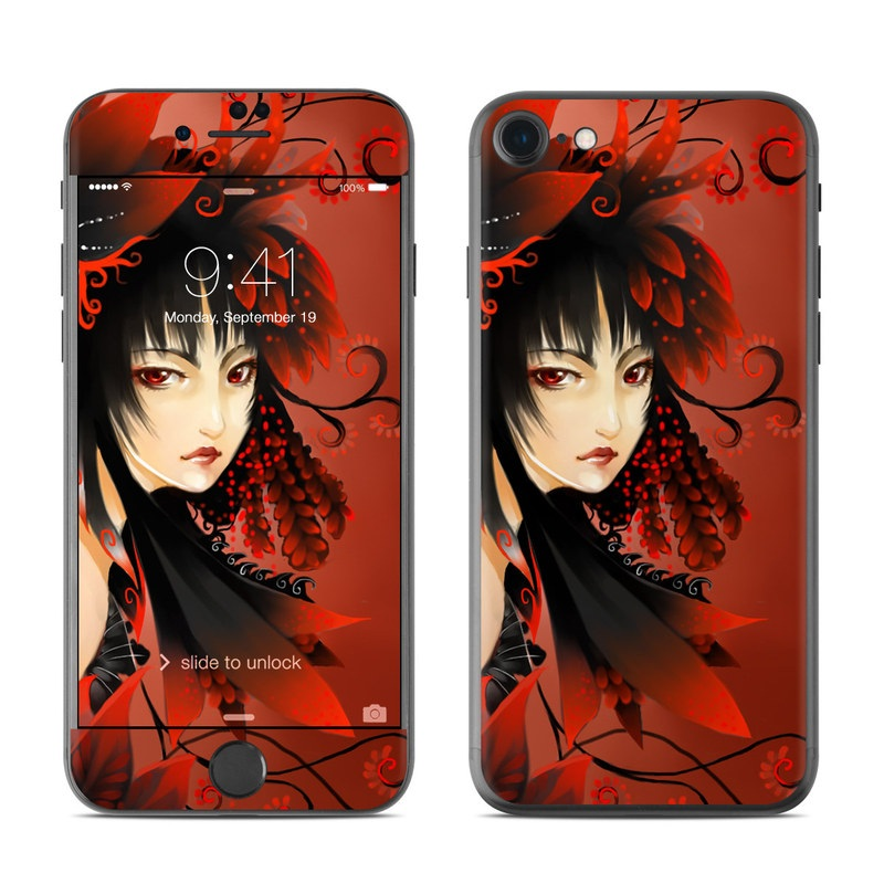 Black Flower iPhone 7 Skin