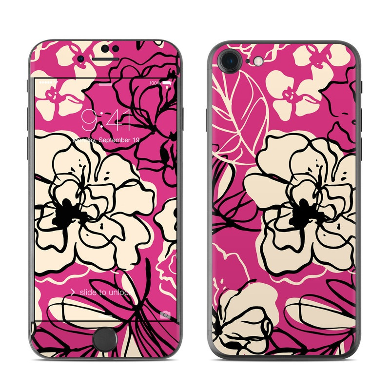 Black Lily iPhone 7 Skin