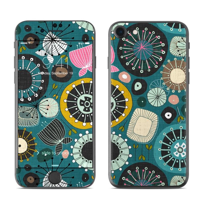 Blooms Teal iPhone 7 Skin