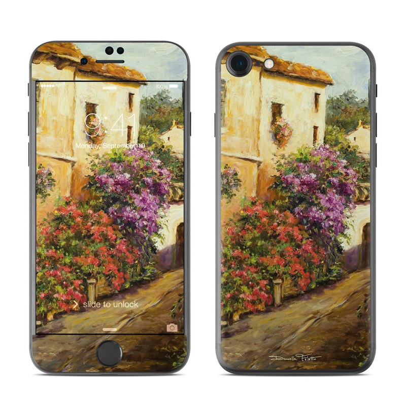 iPhone 7 Skin design of Painting, Flower, Watercolor paint, Floristry, Plant, Spring, Still life, Art, Bougainvillea, Still life photography with black, red, green, gray, orange colors