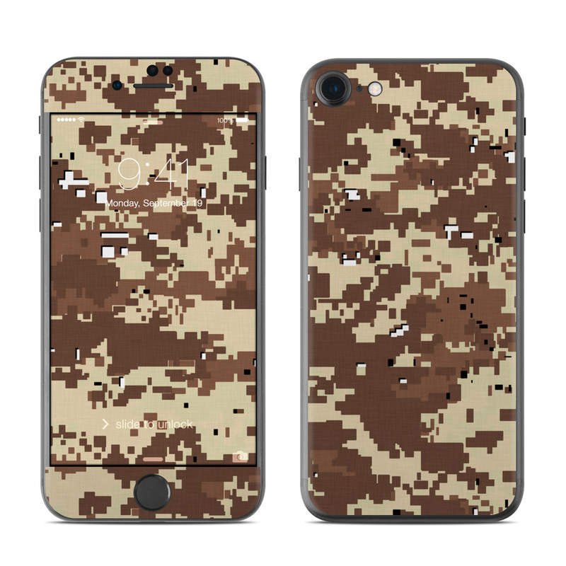 Digital Desert Camo iPhone 7 Skin