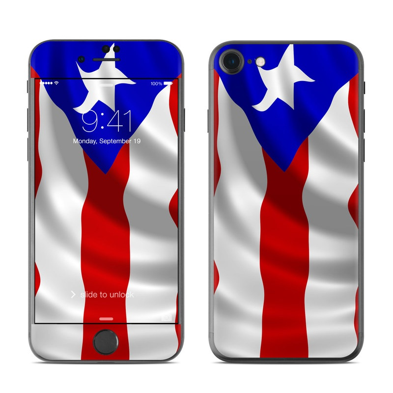 iPhone 7 Skin design of Flag, Flag of the united states, Flag Day (USA), Veterans day, Independence day with red, blue, white colors