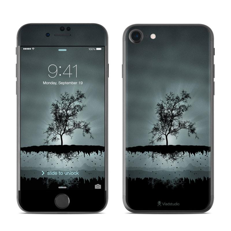 Flying Tree Black iPhone 7 Skin