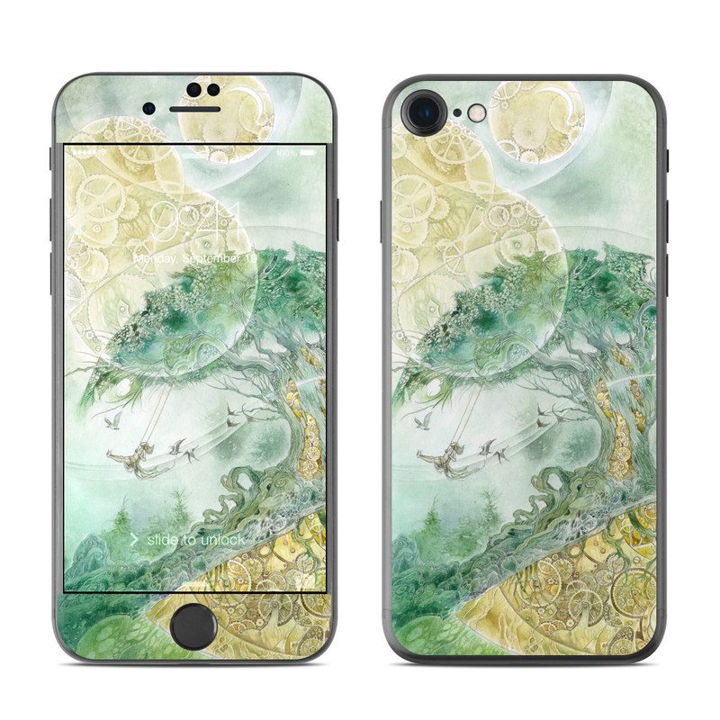 iPhone 7 Skin design of Illustration, Organism, Art, World, Fictional character with green, yellow, brown colors