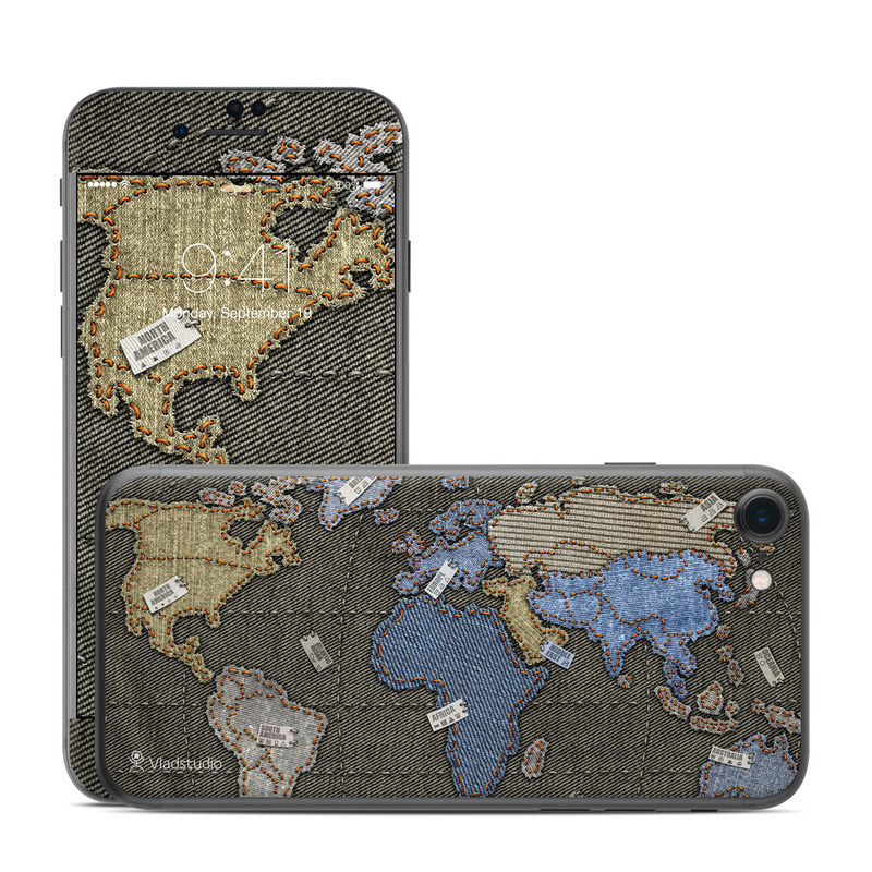 Jean Map iPhone 7 Skin