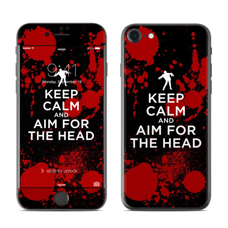 Keep Calm - Zombie iPhone 7 Skin