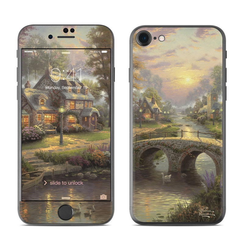 Sunset On Lamplight Lane iPhone 7 Skin