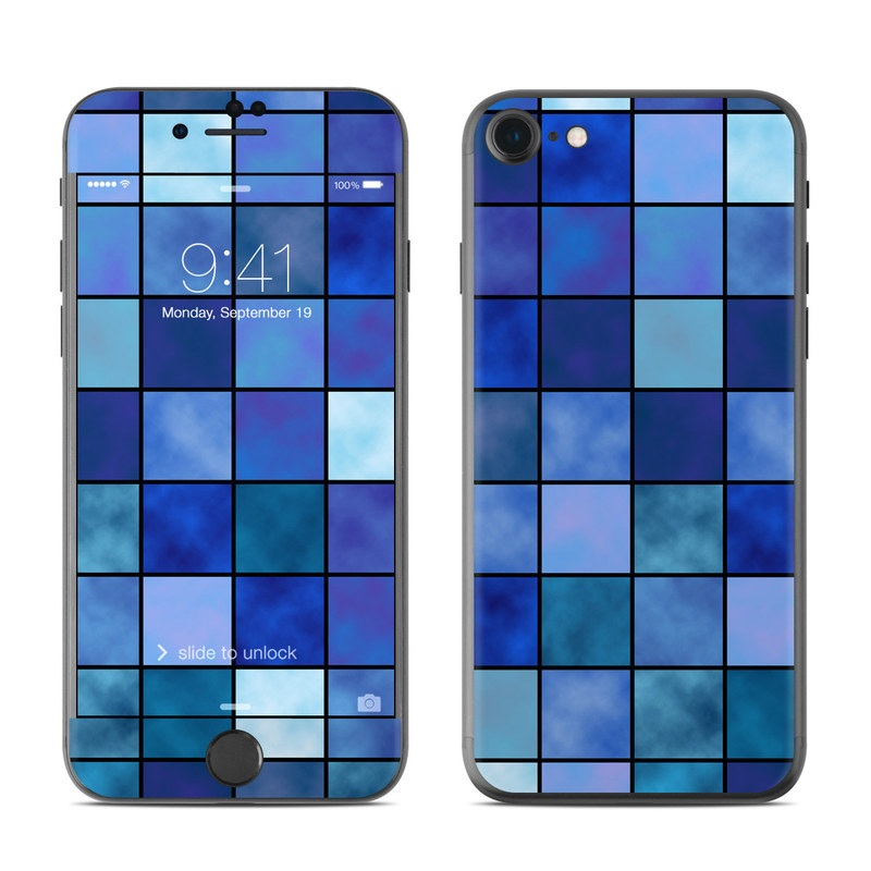 Blue Mosaic iPhone 7 Skin