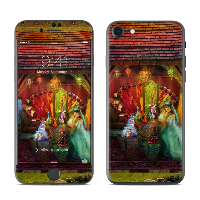 iPhone 7 Skin design of Hindu temple, Temple, Art, Painting, Place of worship, Stage, Fictional character with black, red, green, blue, gray colors