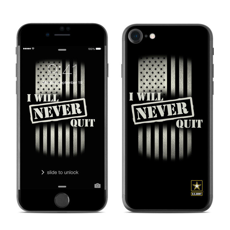 Never Quit iPhone 7 Skin